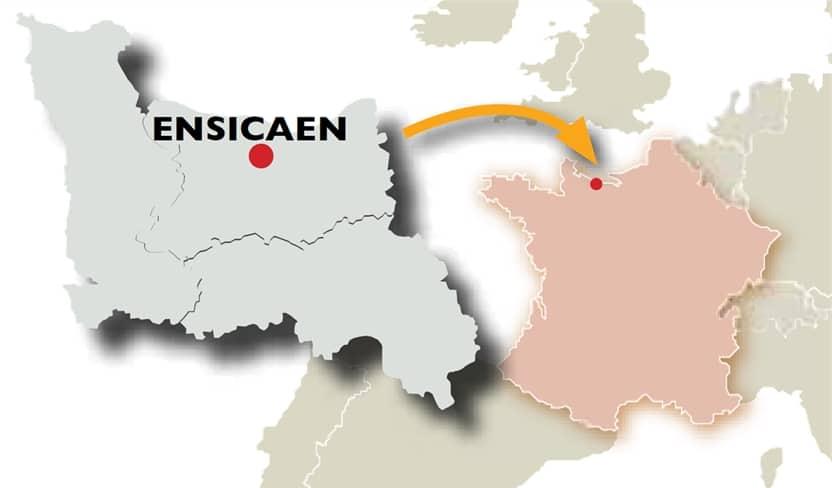 carte france localisation ensicaen