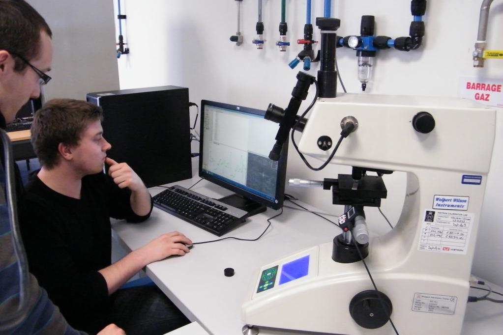 Séance de TP de microscopie à Caligny