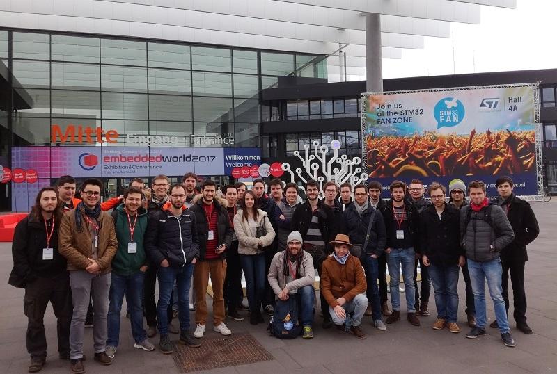 Les élèves-ingénieurs de l'ENSICAEN au salon Embedded World