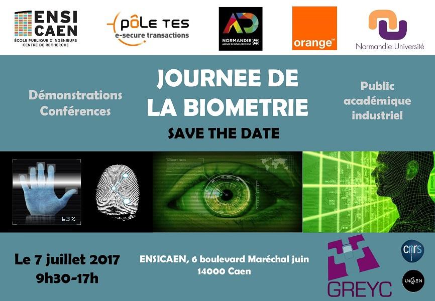 Journée de la Biométrie : 7 juillet 2017 à Caen