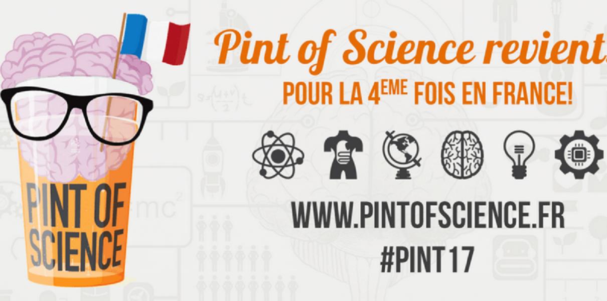 Pint of Science Caen :  les 15, 16 et 17 mai