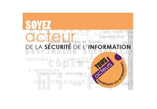Soyez acteur de la sécurité de l'information