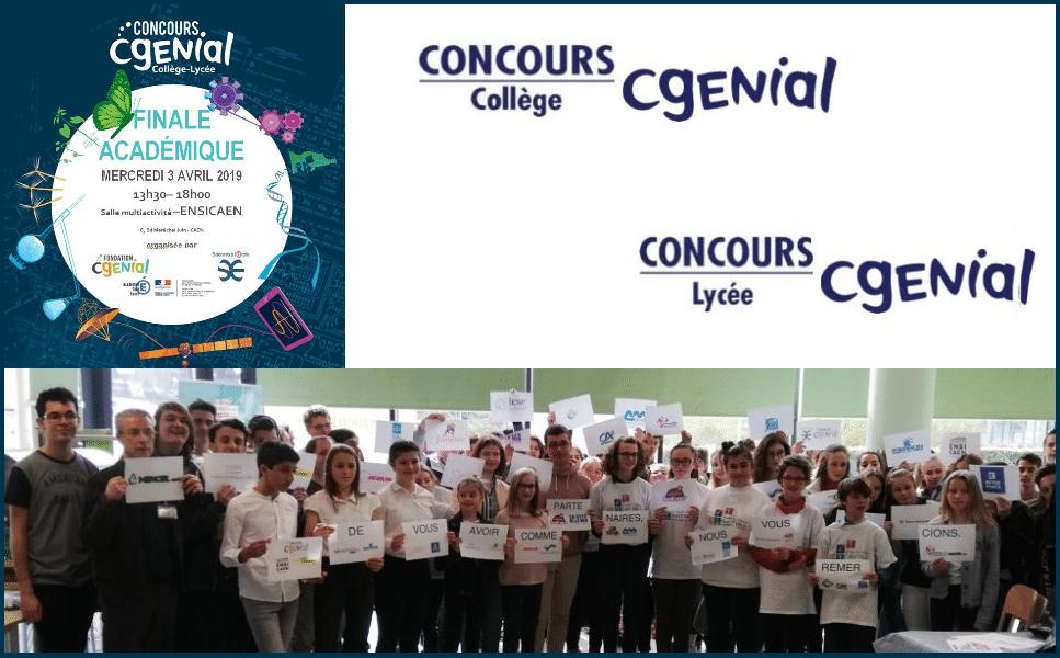 L'ENSICAEN accueille la finale académique du concours CGénial