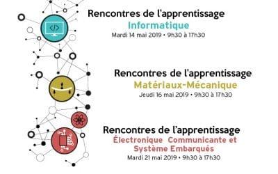 Rencontres de l'apprentissage ENSICAEN les 14, 16 et 21 mai