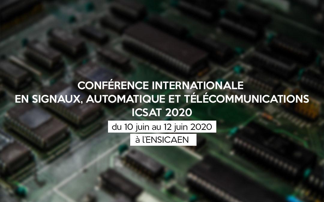 Conférence internationale en Signaux, Automatique et Télécommunications à l'ENSICAEN