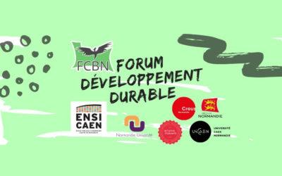 Forum développement durable de la FCBN à l'ENSICAEN