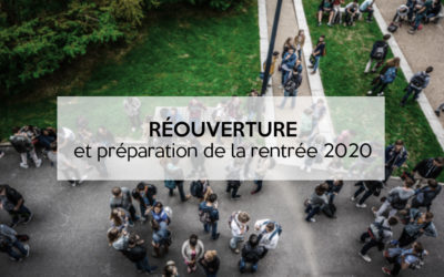 Réouverture et préparation de la rentrée 2020