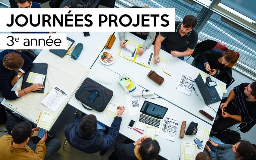 Journées projets dédiées aux étudiants de 3e année et aux entreprises