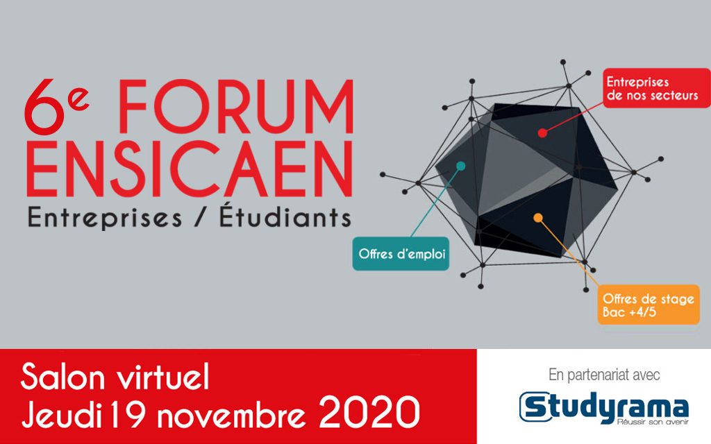 forum ENSICAEN entreprises étudiants 2020