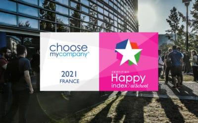 L'ENSICAEN obtient le label HappyAtSchool® 2021