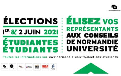 Renouvellement des représentants étudiants aux conseils de Normandie Université